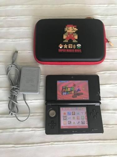 Consola Nintendo 3ds Negro, Estuche Mario Bros