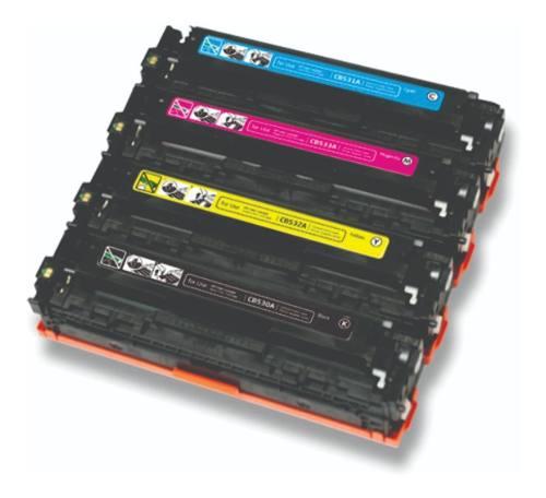 Kit 4 Cartuchos Compatible 128a Ce320a/ce321a/ce322a/ce323a