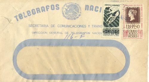 L24-telegrama Concelado Con Timbres Correo Año 1940 O