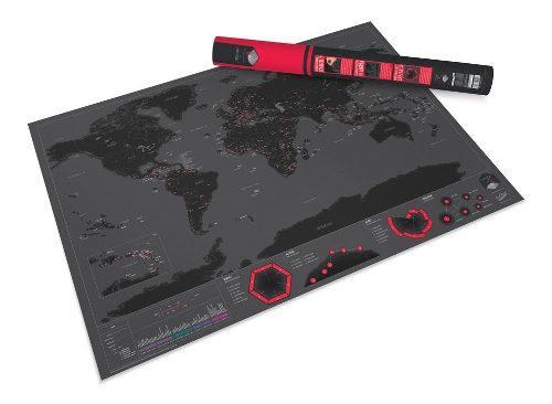 Mapa Rascable Scratch Mapa Capitals Scratch Map + Raspador