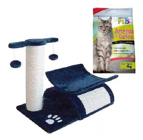 Mueble Para Gato Con Rascador 45 Cm + 3 Kg De Arena Fancy