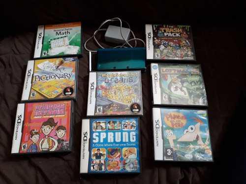 Nintendo 3ds Con 8 Juegos Fisicos Mario Kart En Tarjeta.
