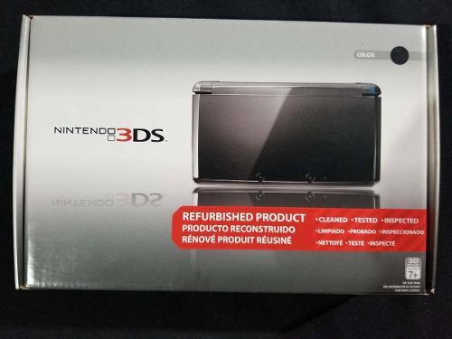 Nintendo 3ds Negro Con Caja Y Manuales