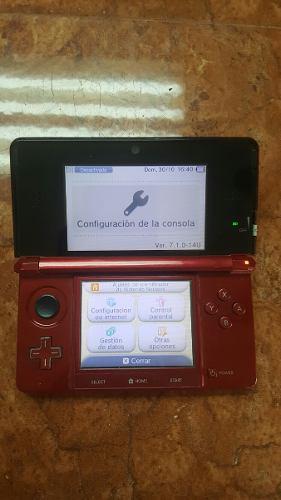 Nintendo 3ds Rojo Con Detalles De Uso.