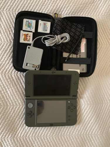 Nintendo 3ds Xl Con Kit De Limpieza, Funda Y 3 Juegos