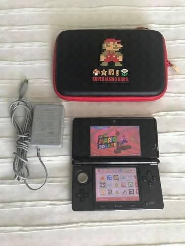 Nintendo 3ds (negro) (con Estuche Mario)