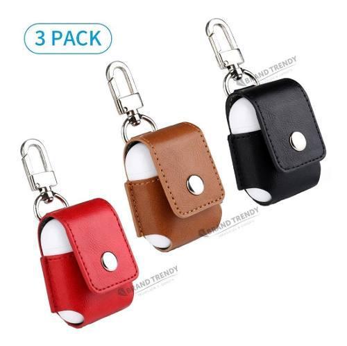 Pack 3 Estuches De Cuero Para AirPods Auriculares Apple