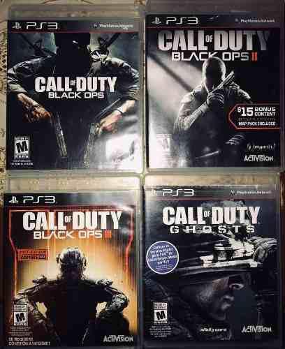 Paquete De 4 Videojuegos Para Ps3 Call Of Duty Black Ops