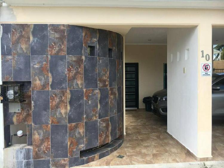 Renta casa amueblada 3 recamaras privada seguridad cancun