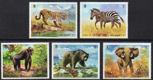Rotova - Animales Salvajes, Set Completo De 5 Timbres Nuevos