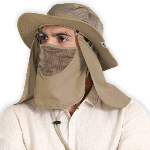 Sombrero De Sol Para Hombres Y Mujeres Cubierta Desmontable