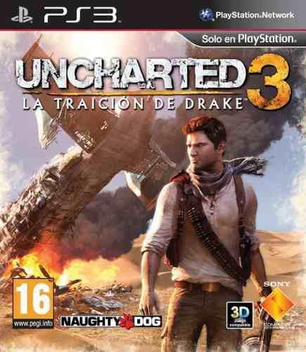 Uncharted 3 Ps3 Fisico Como Nuevo. Juegazo!!