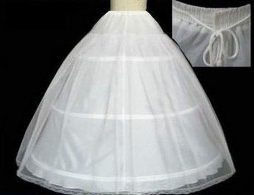 Crinolina Blanca Vestido Novia Tipo Princesa, 3 Aros