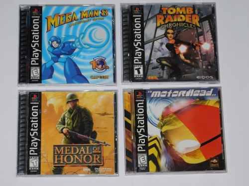 Juegos Ps1, Tomb Raider, Medal Of Honor, Megaman 8