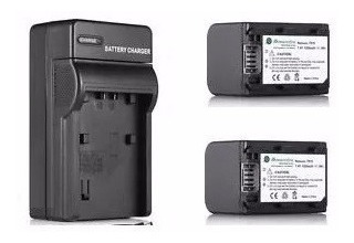 Kit Cargador + 2 Baterías Fh-100 Para Sony Videocamara