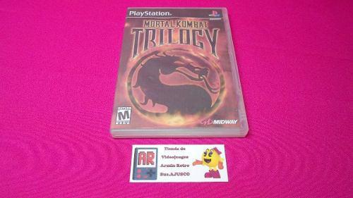 Mortal Kombat Trilogy Ps1 *portada Custom* *1-2 Jugadores*
