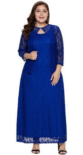 Vestido Azul Marino De Coctel Talla Extra Plus Xl A 5xl
