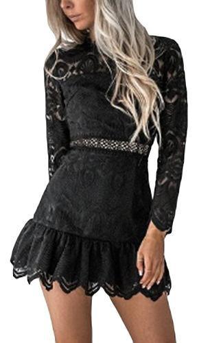 Vestido De Fiesta Elegante Y Entallado Negro Talla L