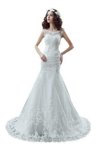 Vestido De Novia De Sirena Ajustable Envio Gratis ! W-32264