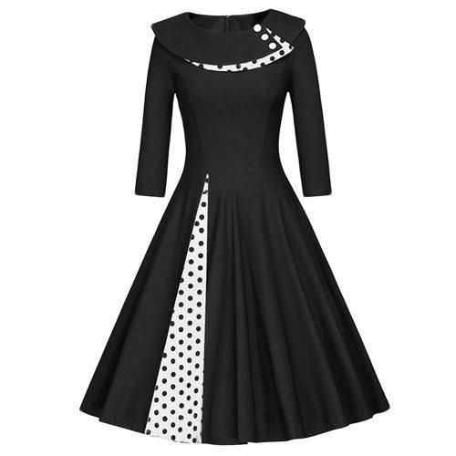 Vestido Zaful Estilo Vintage Otoño/invierno Para Mujer