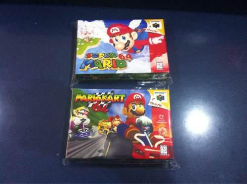 2 Cajas Custom Para Super Mario 64 + Mario Kart (solo Cajas)