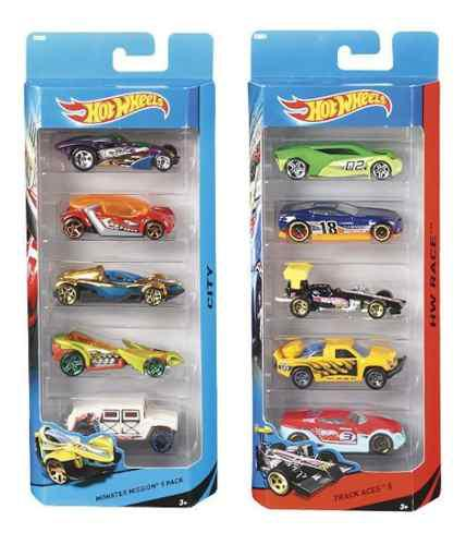 5 Pack Hot Wheels Mattel Autos Paquete Parkingtoys Carritos