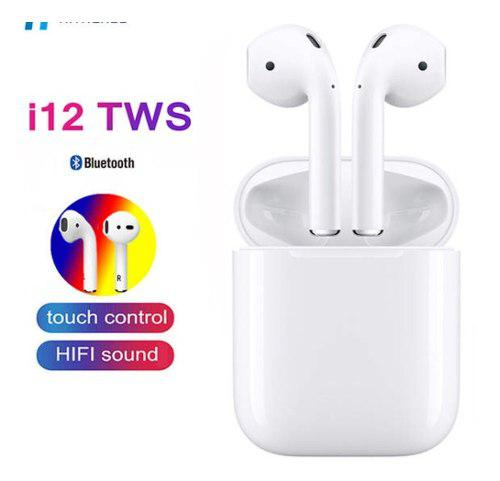 Audifonos Bluetooth Inalambricos I12 Tws Tipo AirPods