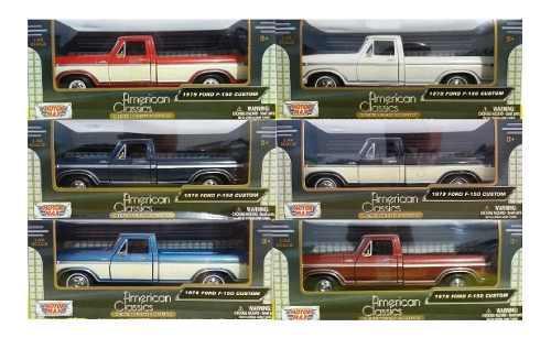 Camioneta A Escala Ford F-150 1979 Motor Max 1/24 6 Colores