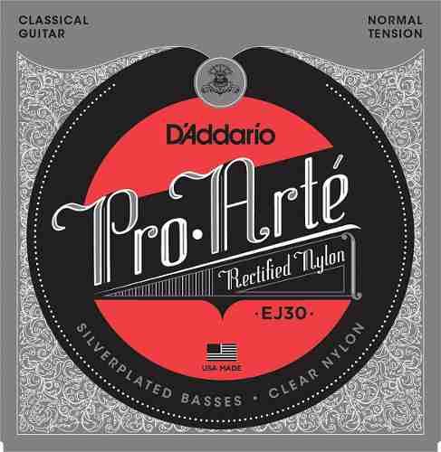 Daddario Ej-30 Juego De Cuerdas Nylon Para Guitarra Clásica