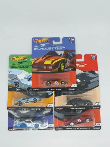 Hot Wheels Silhouettes Serie Completa 5 Piezas 1:64