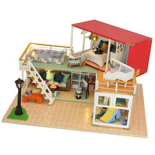 Kit Para Construir Casa De Muñecas En Miniatura, #a