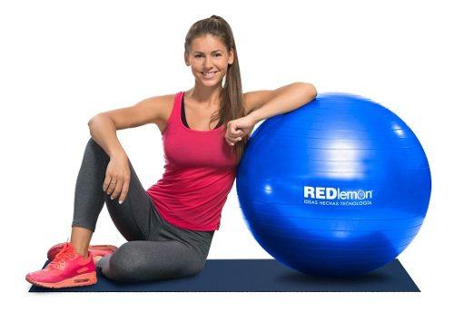 Redlemon Pelota Pilates Yoga Fitness 65 Cm Con Bomba De Aire