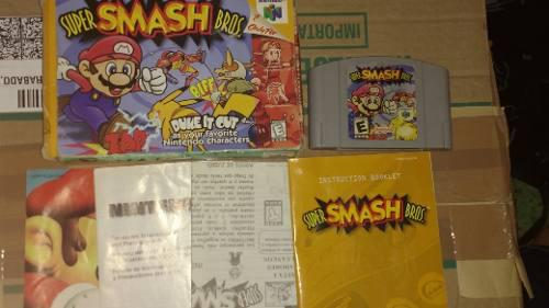 Super Smash Bros N64 Nintendo En Caja Completo
