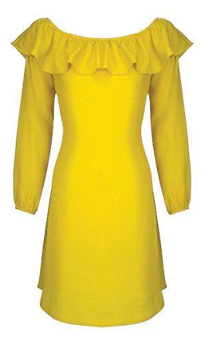 Vestido 13067 Amarillo Túnica Rinna Talla Extra Ma