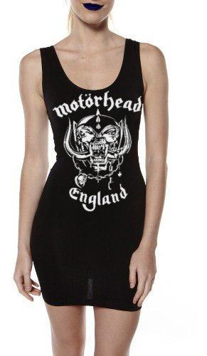 Vestido Tirante Motorhead Punk Metal Rock Moda Alternativa