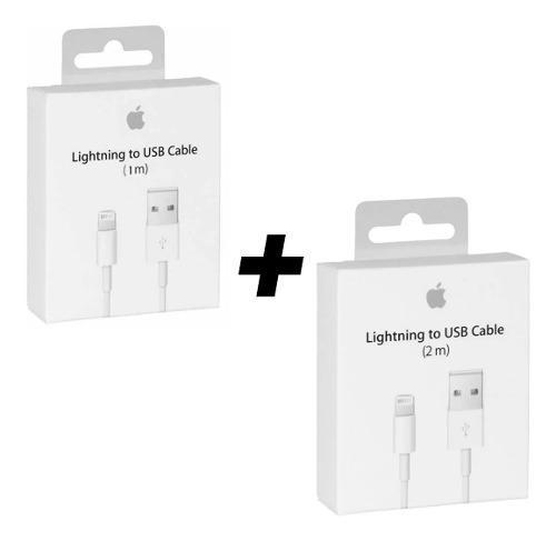 2 Cables Original Apple Lightning 1m Y 2m iPhone iPad X 8 7