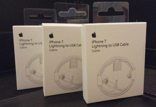 3 Cables iPhone Lightning 100% Original 5 6 7 8 X iPad iPod