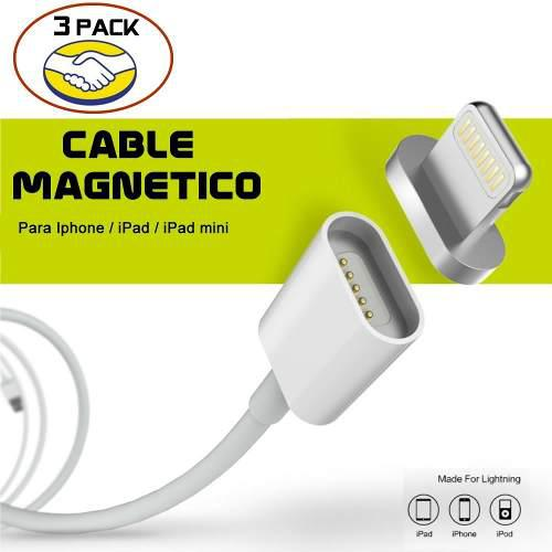 3 Pack Cable Cargador Magnetico Datos Y Carga Para Iph / Ipd