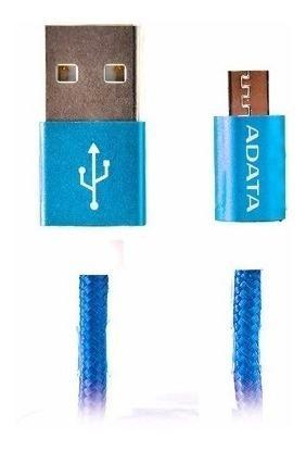 Adata Cable Micro Usb Celular V8 Original Carga Y Datos Azul