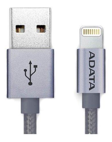 Adata Cable Usb Lightning Original iPhone Uso Rudo Titanio
