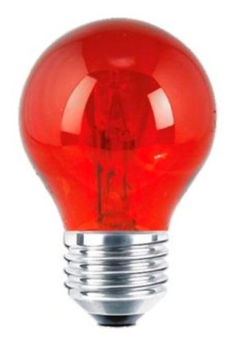 Adir Foco De Halogeno 7w Rojo/base E-27 Color Rojo