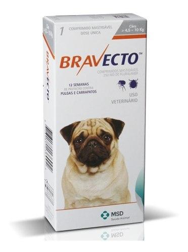 Bravecto Para Perros De 4.5 A 10 Kg Anti Pulgas 100% Origin