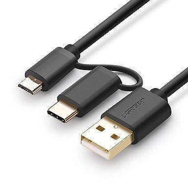 Cable 2 En 1 Micro Usb Y Tipo C De Carga Rapida Y Datos