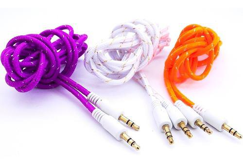 Cable Auxiliar 3.5 Agujeta Reforzado Celular Tablet 1 Metro