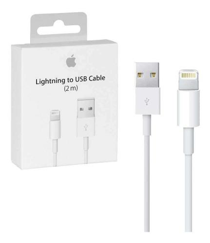 Cable Cargador Original Lightning 2m iPhone 5,6,7,8 X iPad