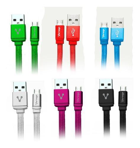 Cable De Datos Micro Usb Uso Rudo Agujeta Celular Tablet V8