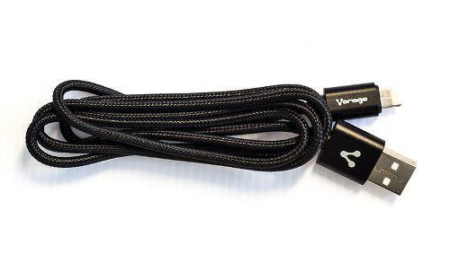 Cable Dual Vorago Cab-209 Micro Usb/lightning Negro