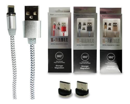 Cable Magnético Con Cabezas Intercambiables V8/tipo
