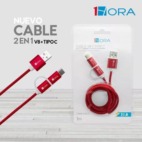 Cable Micro Usb V8 Adaptador Tipo C 2.1a 1hora Nuevos Cab18