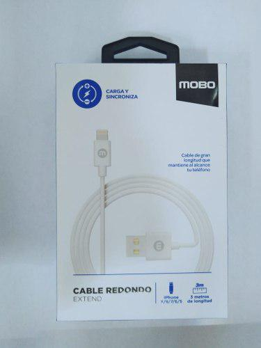 Cable Mobo Usb iPhone 5 6 7 8 Lighting 3mts
